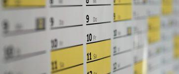 calendário eventos