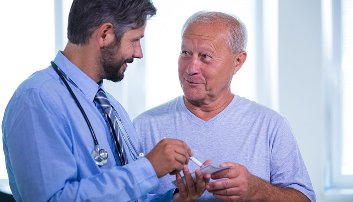 Patient consulting a doctor