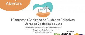 I Congresso Capixaba de Cuidados Paliativos e Jornada Capixaba de Luto estão com inscrições abertas