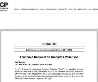 Estatuto Social da ANCP