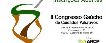 II Congresso Gaúcho de Cuidados Paliativos está com inscrições abertas!