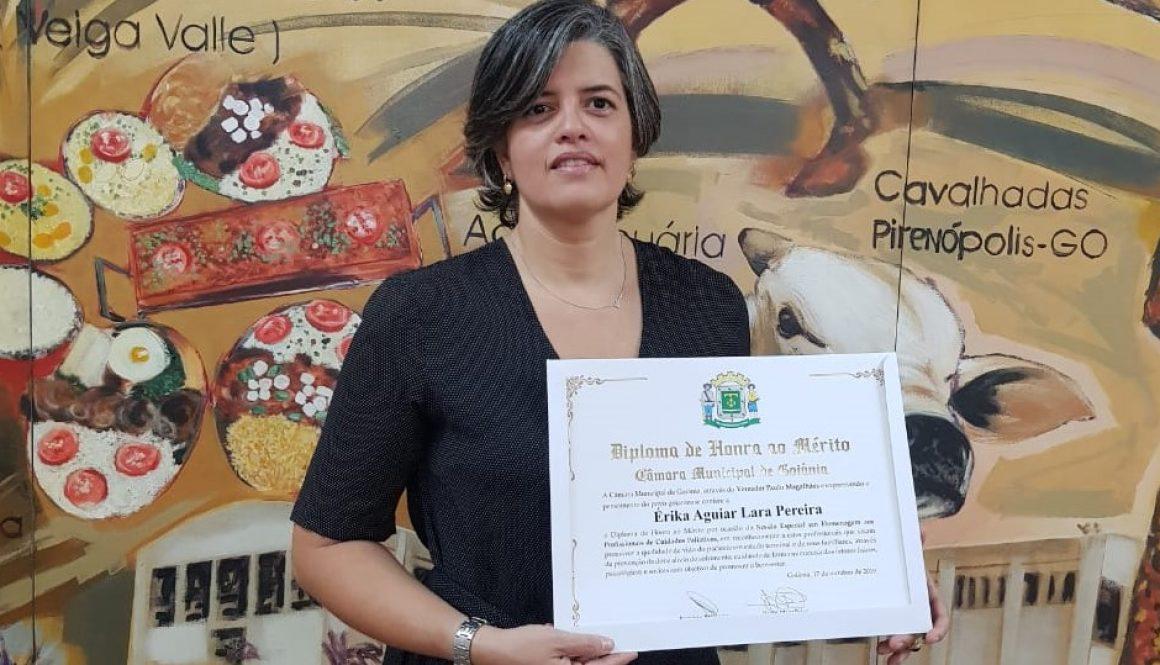 Membro da diretoria nacional da ANCP recebe diploma de Honra ao Mérito concedido pela Câmara Municipal de Goiânia