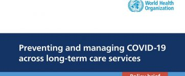 """OMS disponibiliza documento """"Preventing and managing COVID-19 across long-term care services"""""""